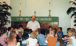Pastor giving a childrens message